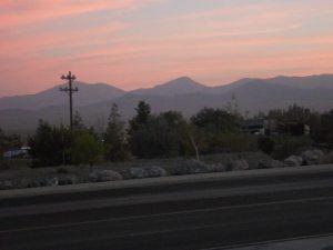 Sunset at the Nevada-Utah border
