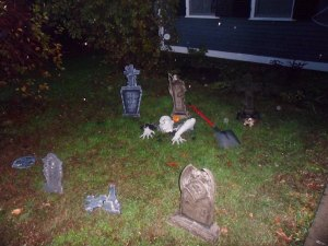 Halloween decorations-- my husband's favorite holiday.