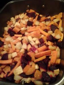 Roasted local veggies